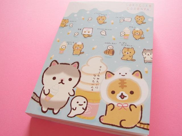 Photo1: Kawaii Cute Large Memo Pad Corocorocoronya San-x * クリームみたいになりたいニャ( MW35501)