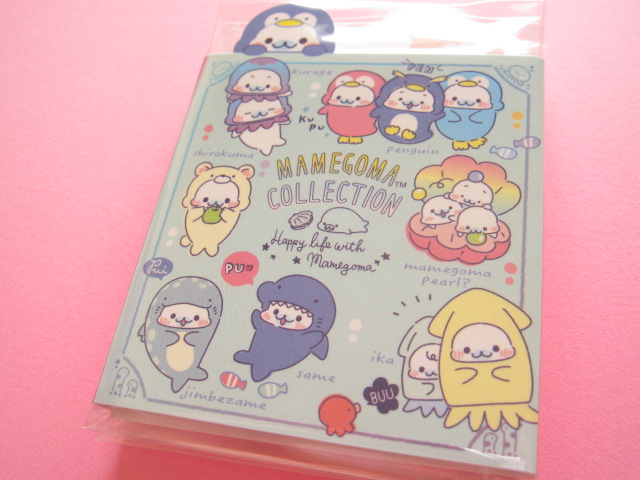 Photo1: Kawaii Cute Patapata Mini Memo Pad San-x Mamegoma *Aquarium (MW37301)