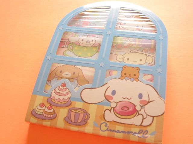 Photo1: Kawaii Cute 窓から Large Memo Pad Sanrio Original *Cinnamoroll (92304-4)