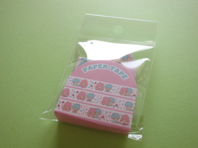 Photo1: Kawaii Cute Masking Tape/Deco Tape Sticker Sanrio Original *Little Twin Stars (07525-6)