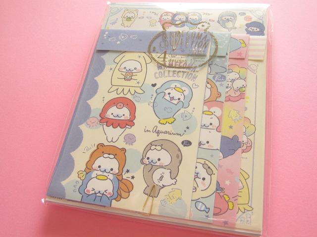 Photo1: Kawaii Cute Regular Letter Set San-x Mamegoma *Aquarium (LH64001)