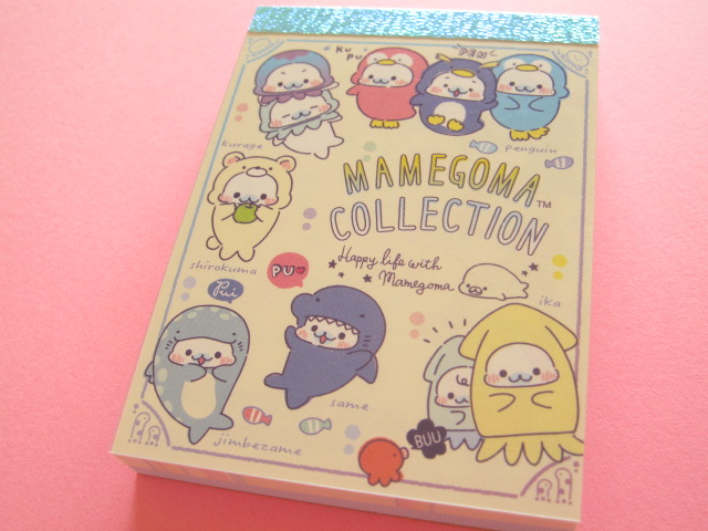 Photo1: Kawaii Cute Mini Memo Pad San-x Mamegoma *Aquarium (MW37501-1)
