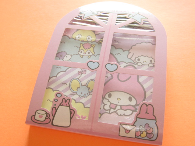 Photo1: Kawaii Cute 窓から Large Memo Pad Sanrio Original *My Melody (92296-0)