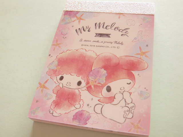 Photo1: Kawaii Cute Mini Memo Pad My Melody Sanrio *Shell (07968)