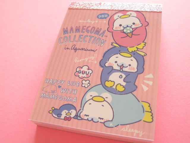 Photo1: Kawaii Cute Mini Memo Pad San-x Mamegoma *Aquarium (MW37501-2)