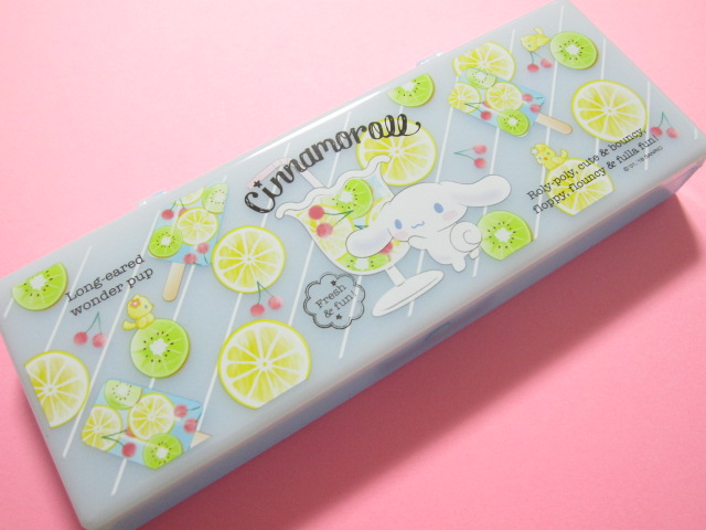 Photo1: Kawaii Cute Plastic Pen/Pencil Case/Box Sanrio Original *Cinnamoroll (79755-3 )