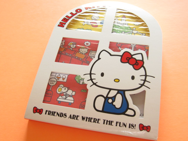 Photo1: Kawaii Cute 窓から Large Memo Pad Sanrio Original *Hello Kitty (92295-1)