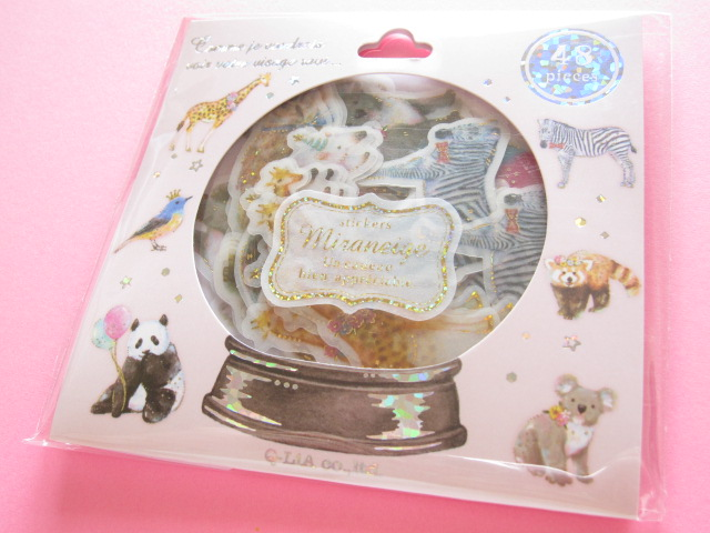 Photo1: Miraneige Sticker Flakes Sack Q-LiA *Party Animals (21238)