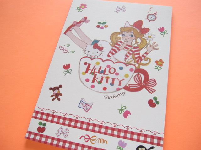 Photo1: Kawaii Cute A5 Notebook Sanrio Original *Setsuko Tamura ×Hello Kitty (32772-7)