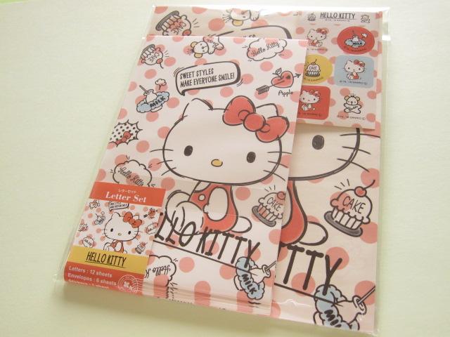Photo1: Kawaii Cute Letter Set Sanrio *Hello Kitty (ふきだし)