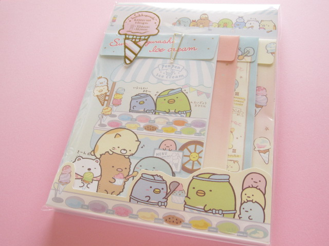 Photo1: Kawaii Cute Letter Set Sumikkogurashi San-x*Penpen Ice cream (LH64101)