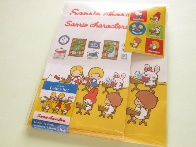 Photo1: Kawaii Cute Letter Set Sanrio *Sanrio Characters (School)