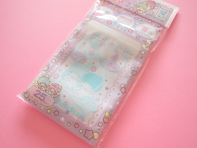 Photo1: 25pcs Kawaii Cute Little Twin Stars Mini Ziploc Bags Set (26104)