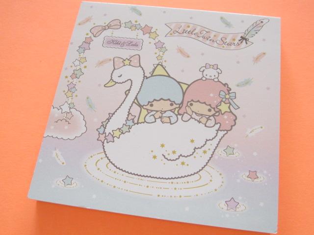Photo1: Kawaii Cute Medium Block Memo Pad Sanrio *Little Twin Stars