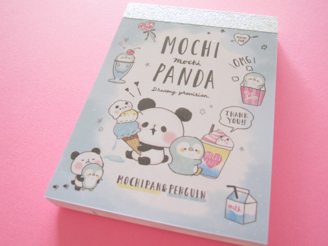 Photo1: Kawaii Cute Mini Memo Pad Mochi Mochi Panda Kamio Japan *ペンギンと一緒 (07397)