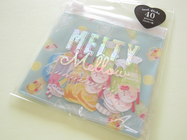 Photo1: Kawaii Cute Melty Mellow Sticker Flakes Sack Crux *Favorite Drink (05781)