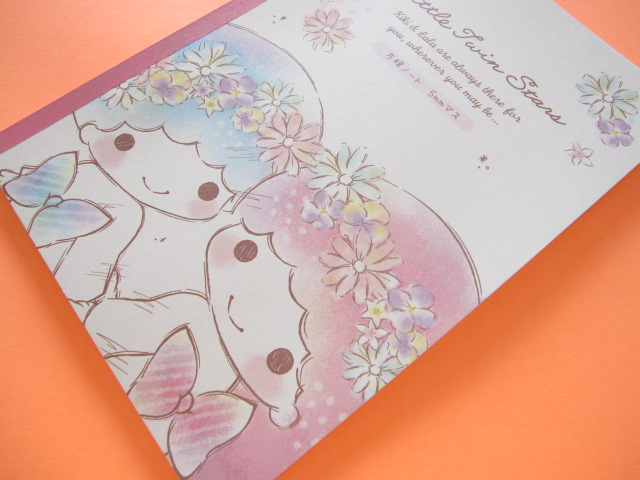 Photo1: Kawaii Cute B5 Notebook Sanrio Little Twin Stars *Flower (09674)