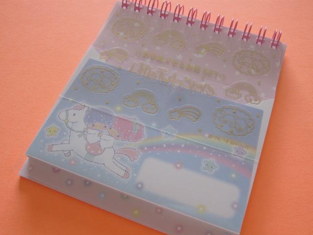 Photo1: Kawaii Cute Spiral Medium Memo Pad & Envelopes Set Sanrio Original *Little Twin Stars (44474-0)