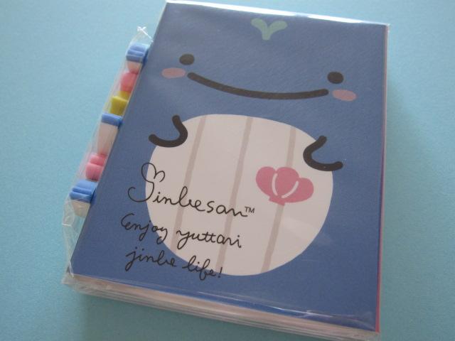 Photo1: Kawaii Cute Patapata Mini Memo Pad Set Jinbesan San-x *Jinbesan Face (MW40201)