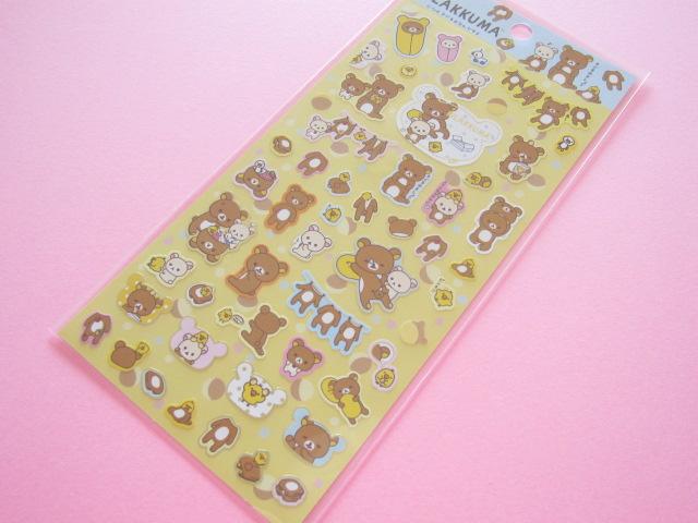 Photo1: Kawaii Cute Sticker Sheet Rilakkuma San-x *リラックマはきぐるみなんです (SE35202)