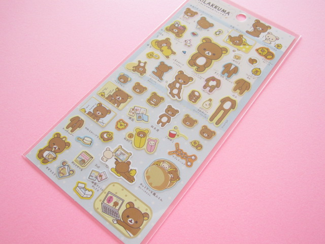 Photo1: Kawaii Cute Sticker Sheet Rilakkuma San-x *リラックマはきぐるみなんです (SE35201)