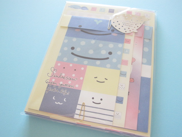 Photo1: Kawaii Cute Regular Letter Set San-x Jinbesan *Jinbesan Face (LH64801)