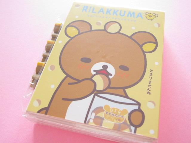 Photo1: Kawaii Cute Patapata Mini Memo Pad Set Rilakkuma San-x *リラックマはきぐるみなんです (MW39001)