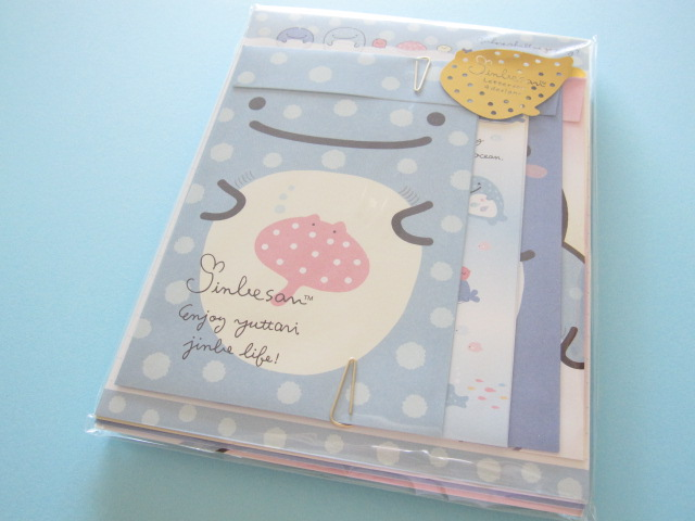 Photo1: Kawaii Cute Regular Letter Set San-x Jinbesan *Jinbesan Face (LH64701)