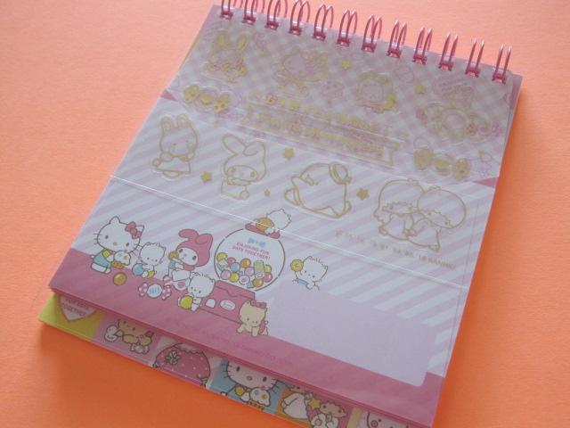 Photo1: Kawaii Cute Spiral Medium Memo Pad & Envelopes Set Sanrio Original *Sanrio Characters (44478-2)