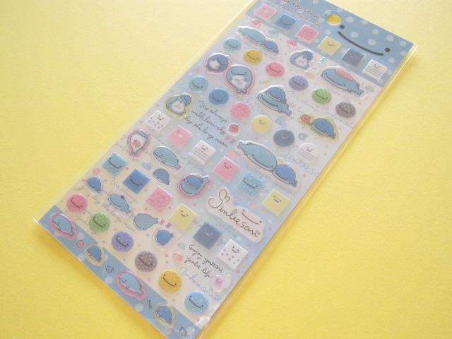Photo1: Kawaii Cute Colorful Clear Sticker Sheet Jinbesan San-x *Jinbesan Face (SE35401)