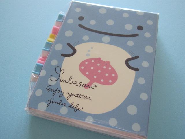 Photo1: Kawaii Cute Patapata Mini Memo Pad Set Jinbesan San-x *Jinbesan Face (MW40101)
