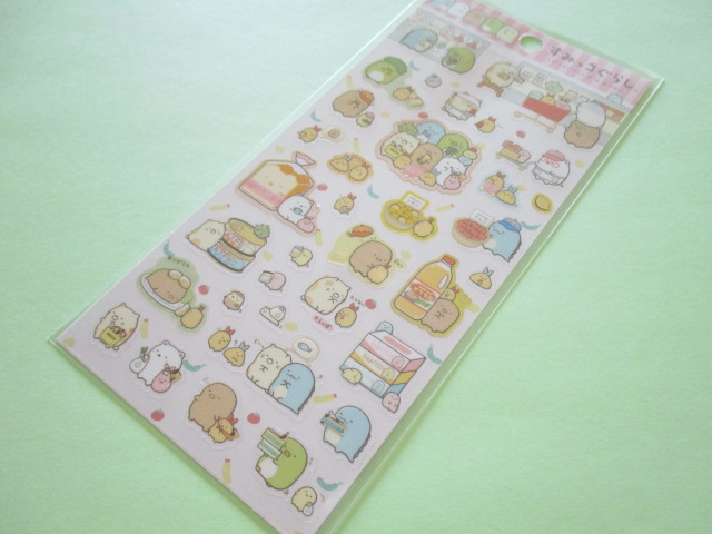 Photo1: Kawaii Cute Sticker Sheet Sumikkogurashi San-x *えびふらいのしっぽのおつかい (SE35302)