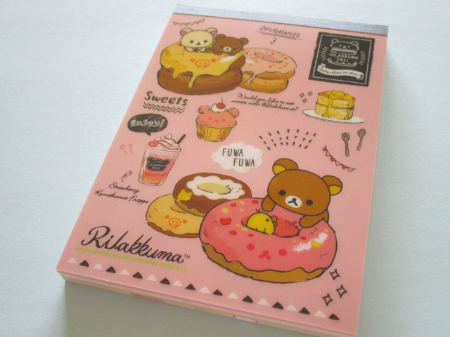 Photo1: Kawaii Cute Large Memo Pad Set Rilakkuma San-x *Rilakkuma Deli (MW40801)