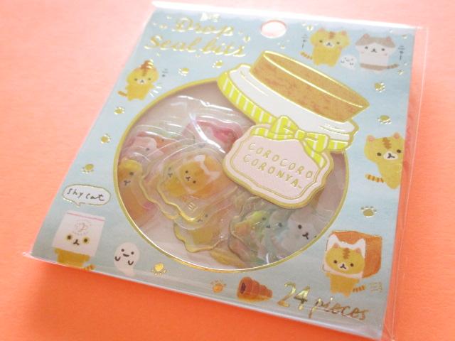 Photo1: Drop Seal Bits Kawaii Cute Sticker Flakes Sack San-x *Corocorocoronya (SE36109)