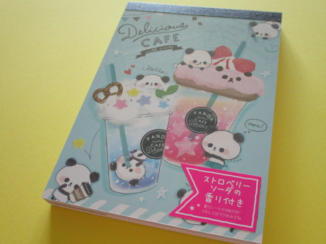 Photo1: Kawaii Cute Large Memo Pad Delicious Cafe Q-LiA *Drink (34100)