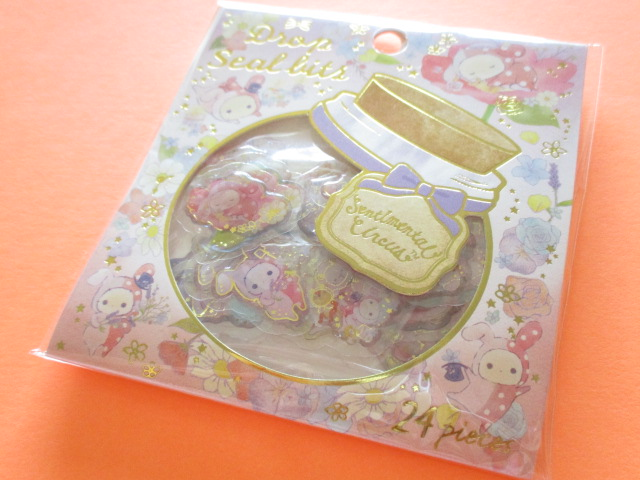 Photo1: Drop Seal Bits Kawaii Cute Sticker Flakes Sack San-x *Sentimental Circus (SE36107)