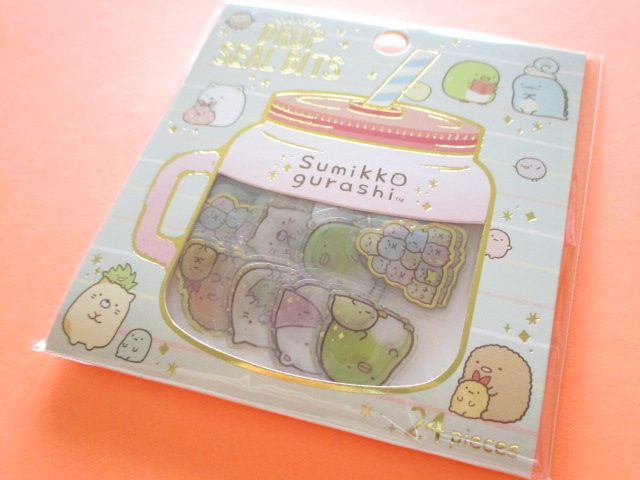 Photo1: Drop Seal Bits Kawaii Cute Sticker Flakes Sack San-x *Sumikkogurashi (SE36104)