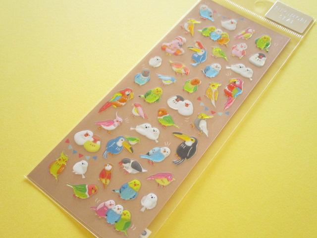 Photo1:  Kawaii Cute Pukumori Stickers Sheet  Mind Wave *とりさんびより (79223)