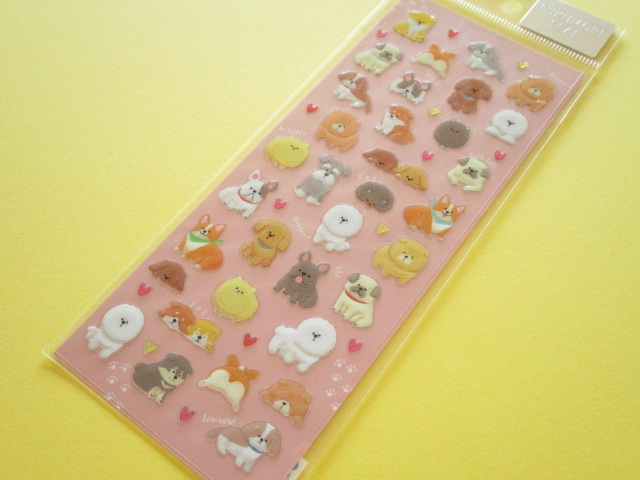 Photo1:  Kawaii Cute Pukumori Stickers Sheet  Mind Wave *わんころころ (79219)