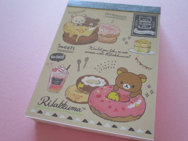 Photo1: Kawaii Cute Mini Memo Pad Rilakkuma San-x *Rilakkuma Deli (MW41301-1)