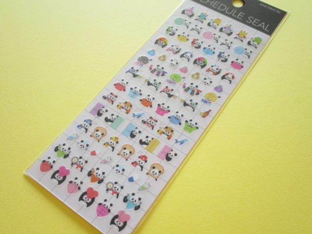 Photo1:  Kawaii Cute Schedule Stickers Sheet  Mind Wave *Panda (79360)