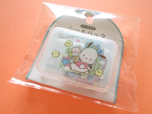 Photo1: Kawaii Cute Sticker Flakes Pack in the Plastic Case Sanrio Original *Pochacco (87538-4)