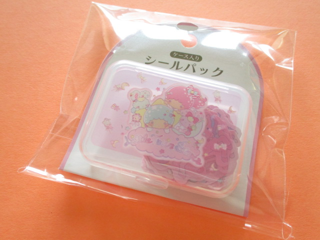 Photo1: Kawaii Cute Sticker Flakes Pack in the Plastic Case Sanrio Original *Little Twin Stars (87525-2)