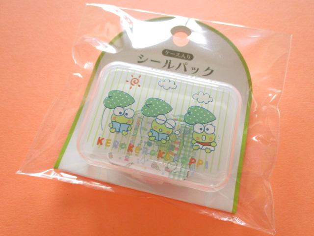Photo1: Kawaii Cute Sticker Flakes Pack in the Plastic Case Sanrio Original *Kerokerokeroppi (87537-6)