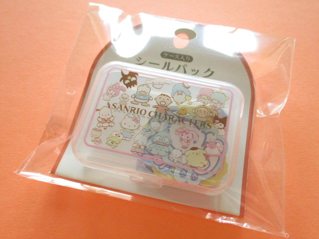 Photo1: Kawaii Cute Sticker Flakes Pack in the Plastic Case Sanrio Original *Characters Mix (87547-3)