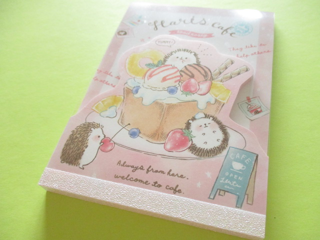Photo1: Kawaii Cute Large Die-Cut Memo Pad Q-LiA *Haris Cafe (34161)