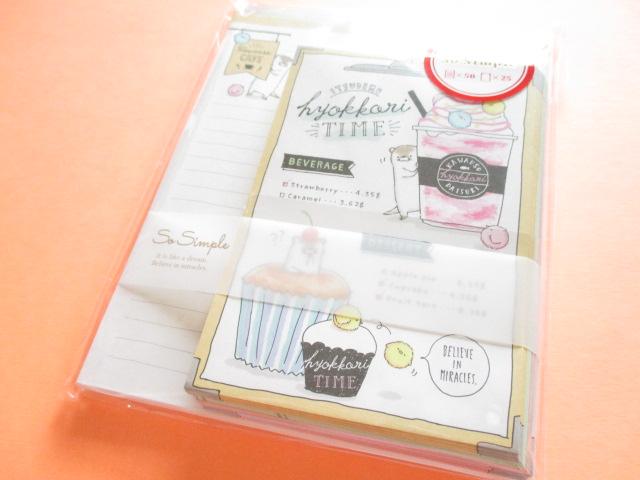 Photo1: Kawaii Cute Letter Set Crux *Hyokkori Time (08982)