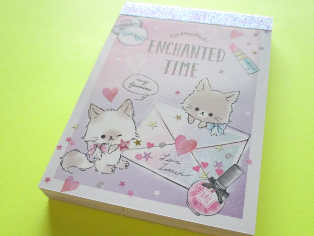 Photo1: Kawaii Cute Mini Memo Pad Enchanted Time Q-LiA *Letter (34121)
