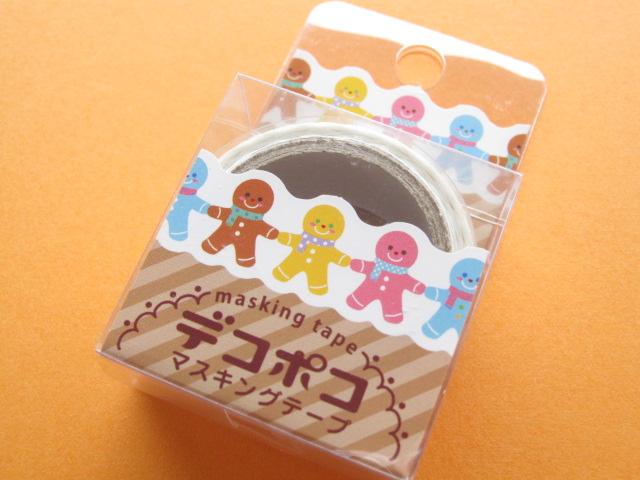 Photo1: Mini Masking Tape/Deco Tape Sticker DECOPOKO *Cookie (MDT03-21)