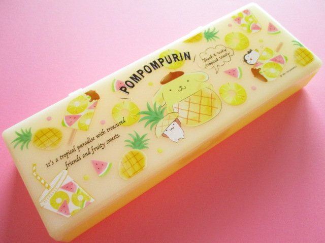 Photo1: Kawaii Cute Plastic Pen/Pencil Case/Box Sanrio Original *POMPOMPURIN (79747-2 )